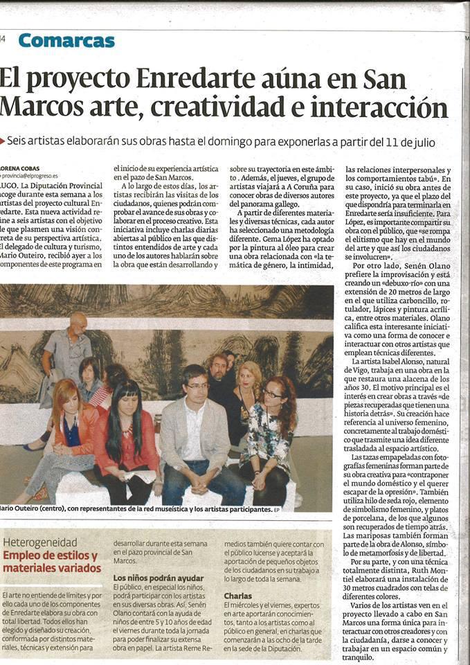 Enredarte 2013, de la Diputación de Lugo