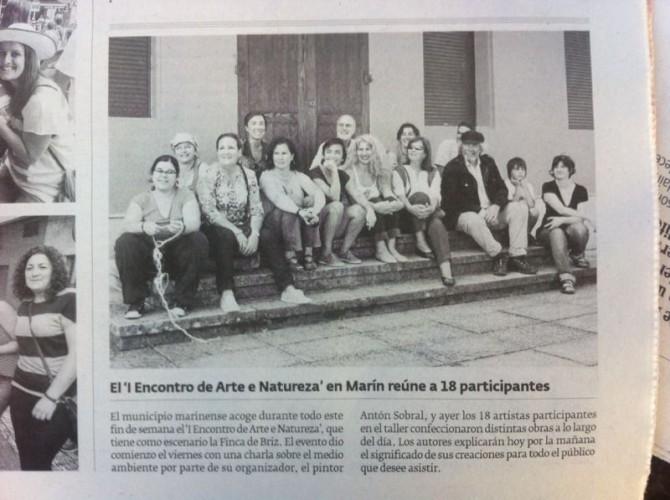 Primer Encuentro de Arte y Naturaleza en el Parque de los Sentidos de Marín.