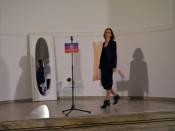 Cristina Sánchez, abriendo la inauguración con una intervención de Danza Contemporánea.
