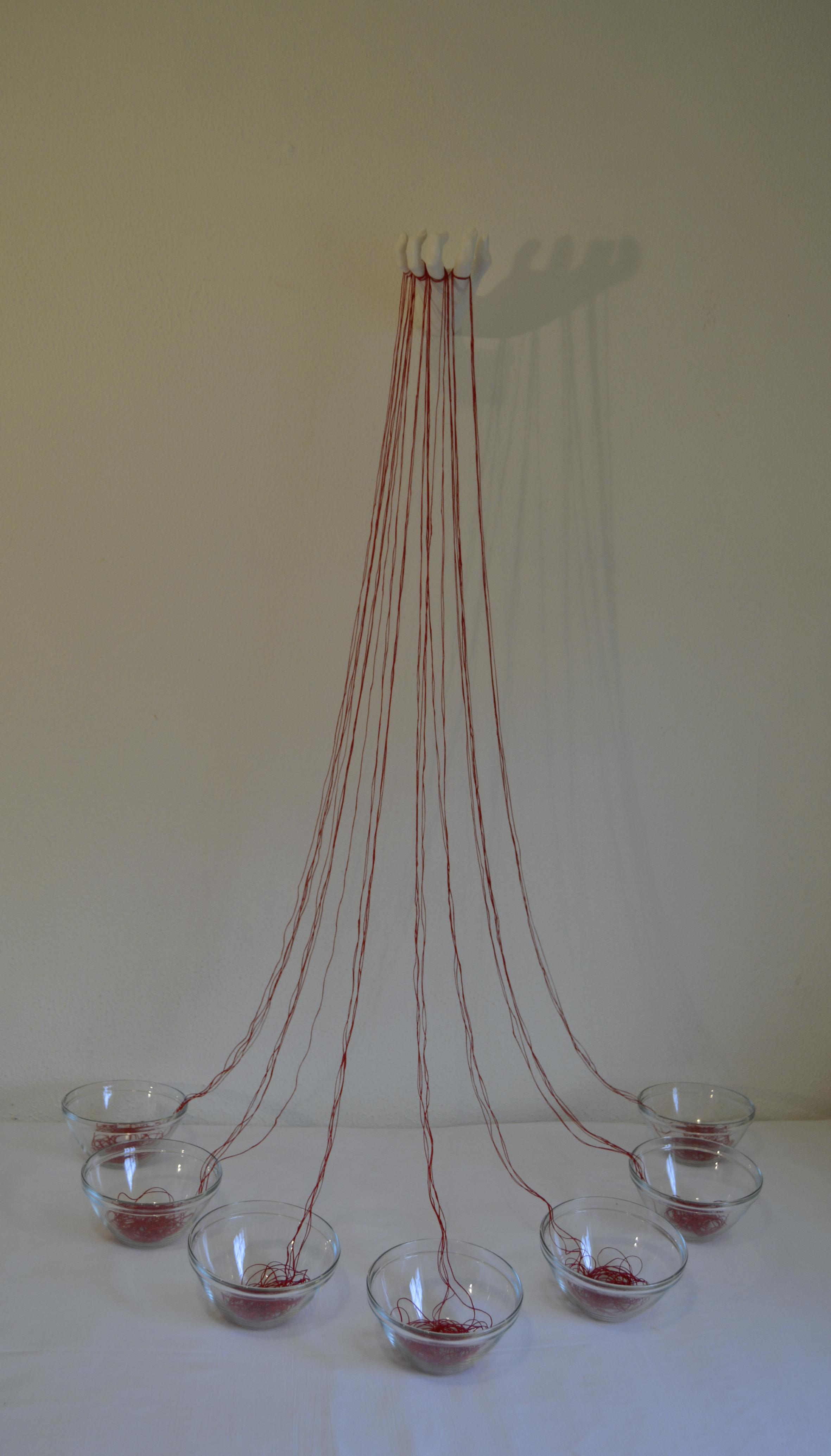 """""""Rituales II"""", otra de mis instalaciones creadas para la exposición."""