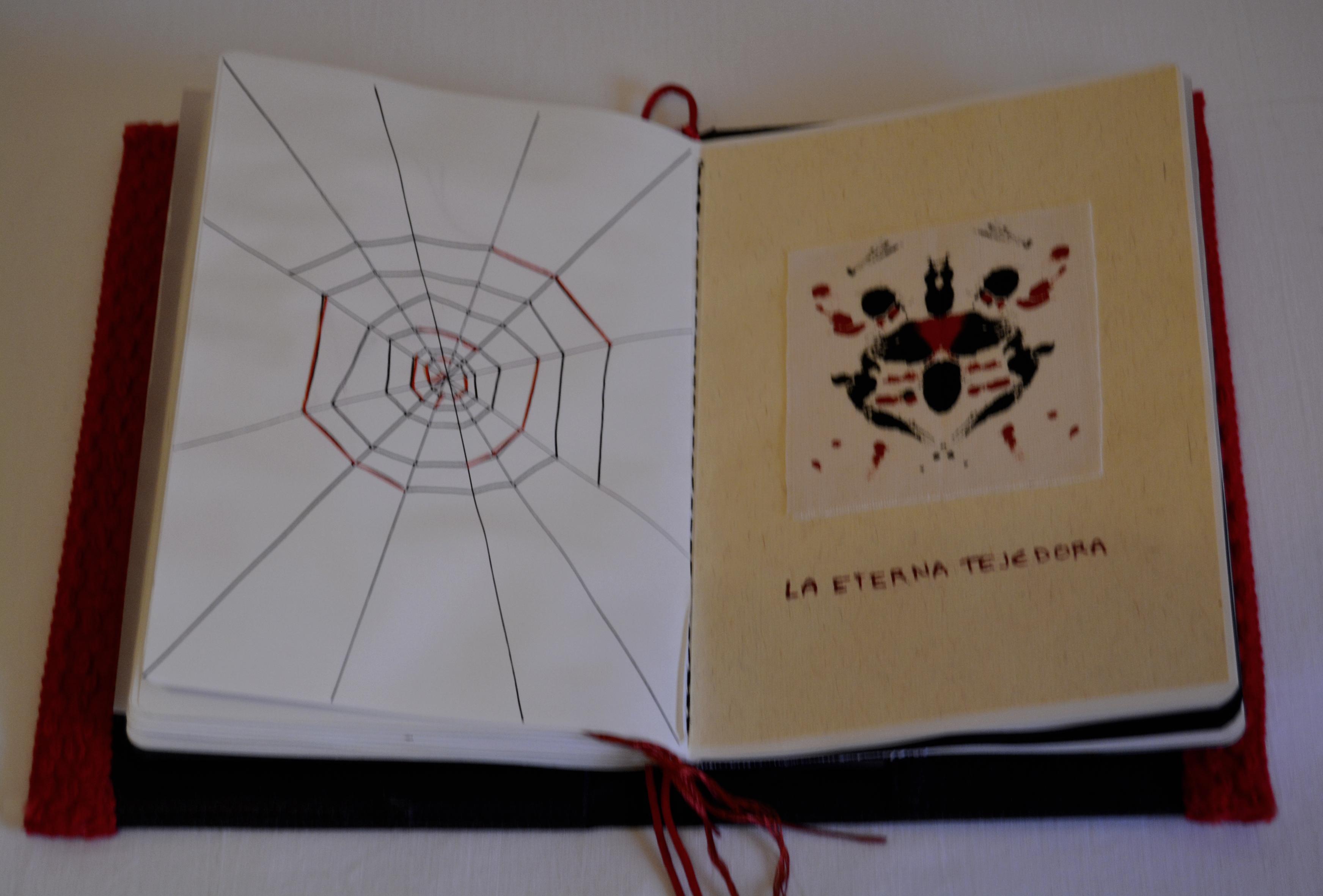 Detalle de una de las ilustraciones del cuaderno,